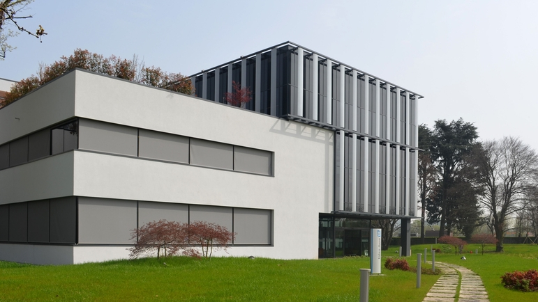 Outside view of the new building of Endress+Hauser Italy.
