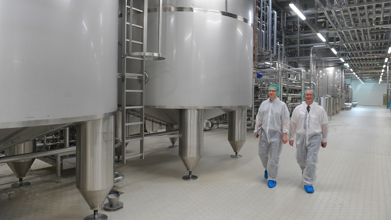 Production facility for fractionation of whey and milk